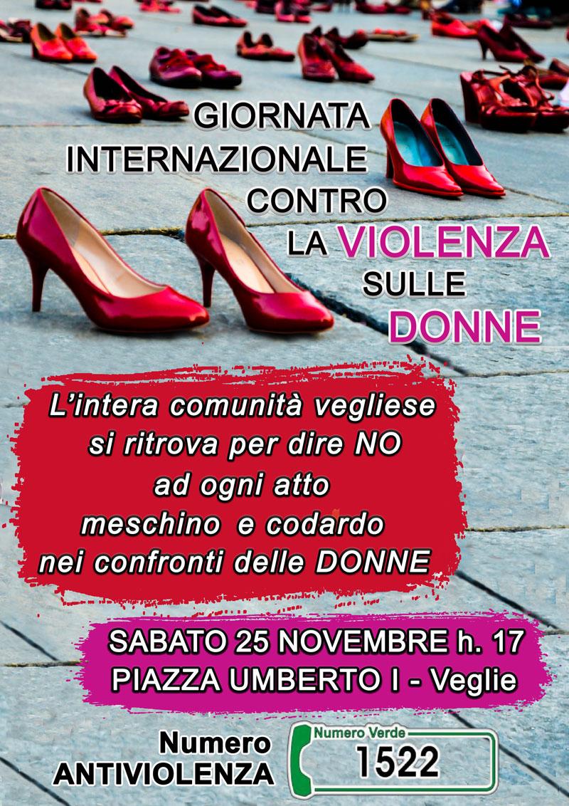 il 25 novembre scarpette rosse in piazza umberto i a veglie per la giornata internazionale contro la violenza sulle donne veglienews veglie nel mondo veglienews