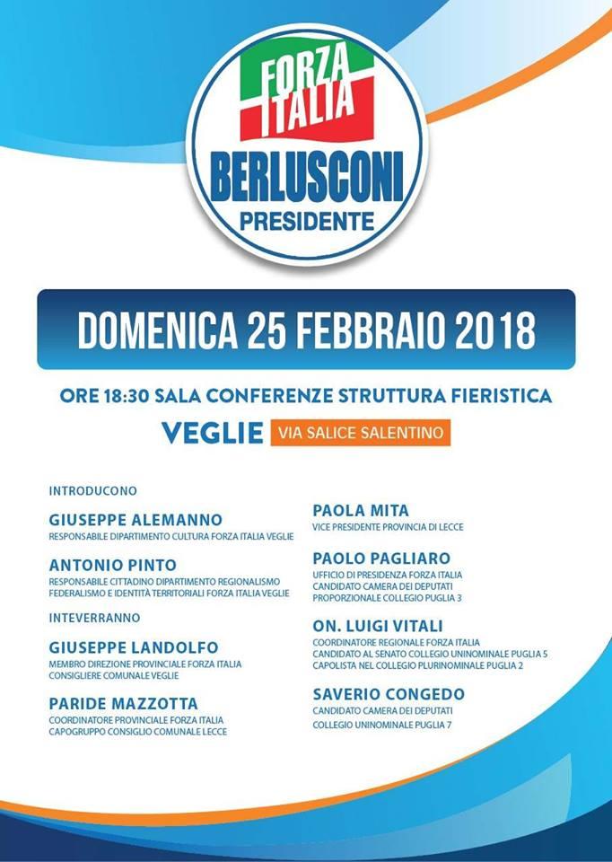 Forza italia a veglie un incontro con esponenti locali for Forza italia deputati