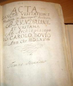 Visite pastorali mons. Bovio, tomo 2°. 1565 e ss.